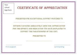 Free Certificate Appreciation Template Purple Border Employee