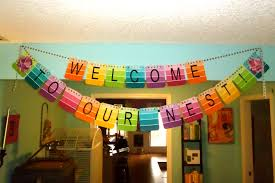 Use paint sample cards to create a Welcome Banner for housewarming party. |  *Party Ideas* | Pinterest | Housewarming party, Banners and Create