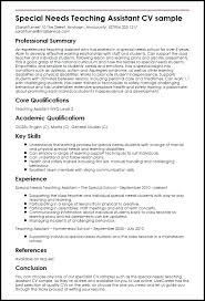 Esl Teacher Assistant Resume Sample Example Special Needs Aide