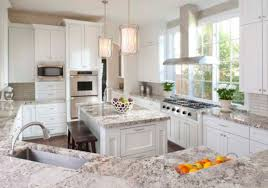 Marble Countertops With White Cabinets Stunning White Textured