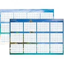 At A Glance Organizer At A Glance Dmwtee28 Erasable Reversible Horizontal Wall Planner