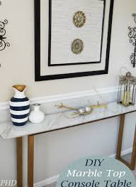 diy marble top console table jpg