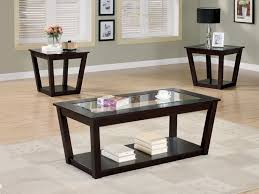 Coffee End Table Sets Unique Perseus Glass Top Wooden Coffee Table Set  Montreal Xiorex