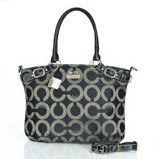 Coach Madison Kelsey Large Black Satchels ESH