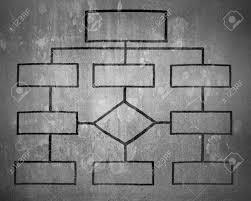 Blank Wall Chart Blank Organization Chart On Gray Concrete Wall Background