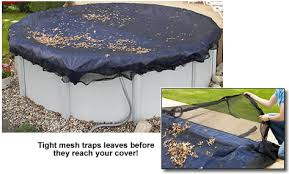 above ground pool winter covers. In-ground Leaf Nets Have An Extra 4-foot Overlap And Water Tube Loops For A  Secure Fit Over Your In-ground Winter Cover. These Are Made From Above Ground Pool Covers X