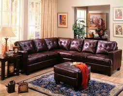 coaster furniture samuel dark brown bonded leather sectional the classy home