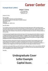 An Example Of A Cover Letters Cover Letter Student Affairs