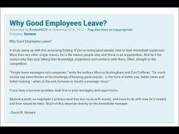 A Good Reason For Leaving A Job Why Good Employees Leave Jobs Good Employee Job Quotes