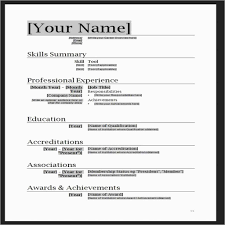 Elegant Resume Template Word Doc Free Best Of Template