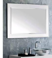 6 impressive design ideas using rectangular white mirrors and silver faucets from