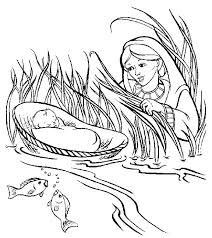 Moses Coloring Pages Activities Coloring Pages Baby Coloring Page