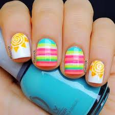 Summer Nail Art Věci Které Chci Vyzkoušet Nail Art Sun Nails