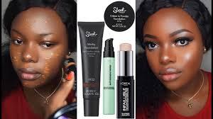makeup review ft sleek vitality foundation l oreal infallible primer highlighter