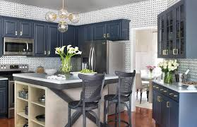 if you thought that kitchens are boring think again a navy blue kitchen cabinet set is an excellent way to spruce up the interiors