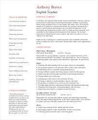 Resume Example English Musiccityspiritsandcocktail Com