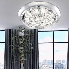 Deckenleuchte Kronleuchter Deckenlampe Acrylkristalle Licht Globo Celia 46642 3d