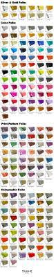 Textile Foils Color Chart