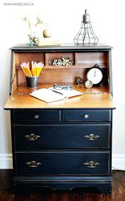 painted secretary desk in fusion mineral paints coal black 105 splendid painted secretary desk in fusion
