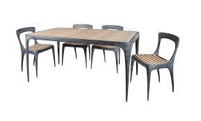 outdoor rectangular dining table. CAST Rectangular Dining Table Teak Top Outdoor L