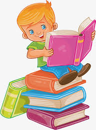 sit in a book read a book vector png lovely children cartoon
