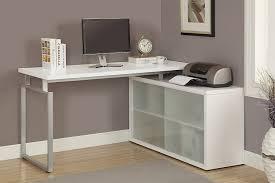 chrome office desk. Elegant L Shaped Office Desk For Your Home Design: White Chrome G