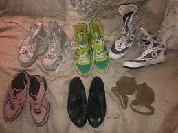 Lot Of 9 Pair Of Dance Shoes Tap Jazz Hip Hop Acro Size 8 Bloch Balera Ebay