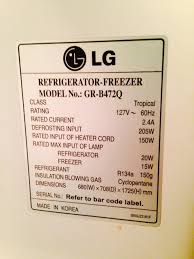 What Is The Power Consumption Of My Lg Refrigerator Home