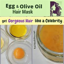 olive oil and egg hair mask for hair growth