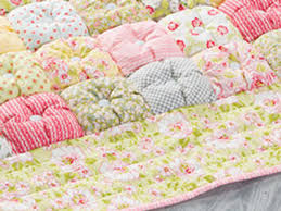 Prettiest Puff Quilt With Buttons Uses A Heap Of Fabric Scraps ... & puff-quilt-with-border-biscuit-quilt Adamdwight.com