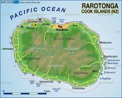 map of rarotonga cook islands (new zealand)  map in the atlas of
