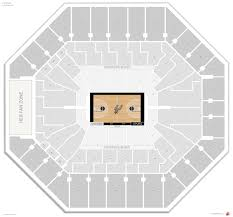 San Antonio Spurs Seating Guide At T Center