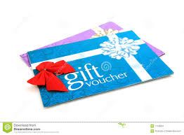 gift vouchers colored hearts great for valentine s day s gift vouchers stock image