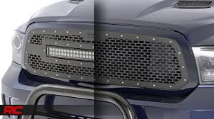 2013-2016 Ram 1500 Mesh Grille Kit by Rough Country - YouTube