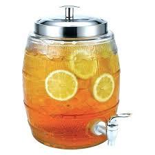 5 gallon glass drink dispenser with spigot glass beverage dispenser anchor hocking heritage hill glass beverage