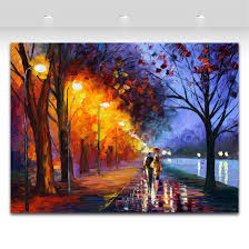 2019 alley by the lake palette knife oil painting landscape style printed on canvas riverside scenery works from asenart 7 96 dhgate com
