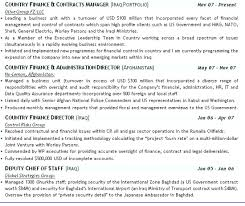 Military Cv Format Professional Resume Templates