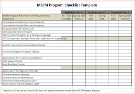 Sample Excel Checklist Template