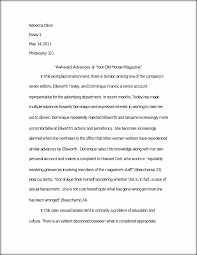 business ethics paper rebecca olson essay philosophy  this preview has intentionally blurred sections sign up to view the full version
