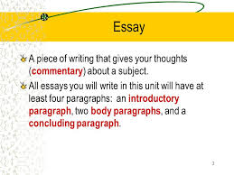 the multi paragraph essay ppt video online  3 essay a piece of writing