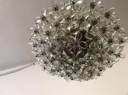 vintage crystal murano glass flower chandelier 10 490 00