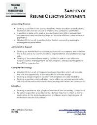 Examples Of Resume Objectives Interesting Resume Objective Office Assistant Sample Resume Objective Statements