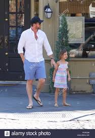 Adam Dell out and about in the West Village with daughter Krishna Stock  Photo - Alamy