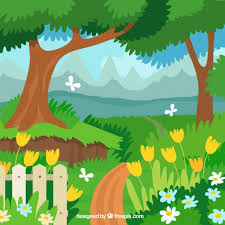 Small Picture Flat garden landscape design Vector Free Download