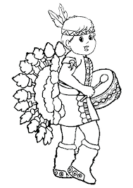 Native American Coloring Sheets Free Color Page Cartoon Characters