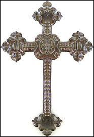 large decorative cross wall hanging handcrafted haitian metal design 18 x 12 1