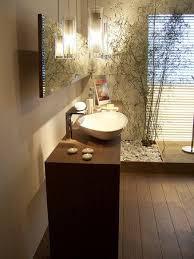 Image Dramatic Contemporary Zen Bathroom With Wood Flooring And Eyecatching Lighting Fixtures Pinterest How To Create Zen Bathroom Faja Remodel Zen Bathroom Bathroom