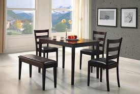 Perfect Apartment Five Piece Bench Home Striped Walls Small Dining Room  Tables And Chairs If You