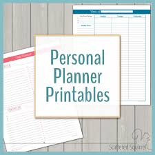 Downloadable Daily Planner Stunning Personal Planner Free Printables