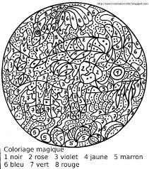 Maternelle Coloriage Magique Le Poisson Vache
